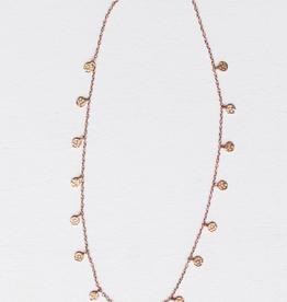"Leslie Curtis Haley 18k Gold Plated Necklace W/tiny Gold Disks - 16"""