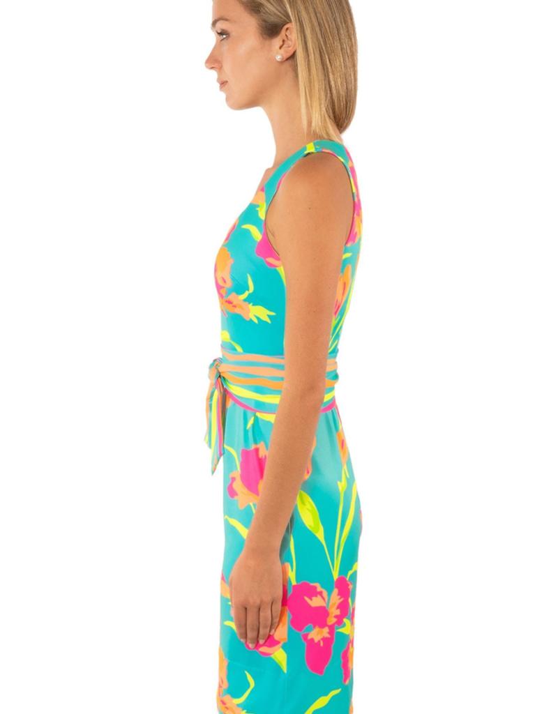 Gretchen Scott Date Night Dress - Iconic Iris - Ocean - Large