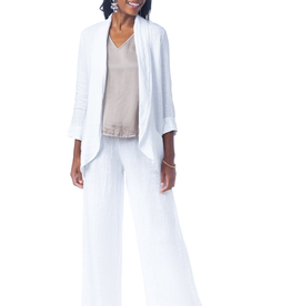 Brianna Shawl Collar White Blazer - Small-Medium