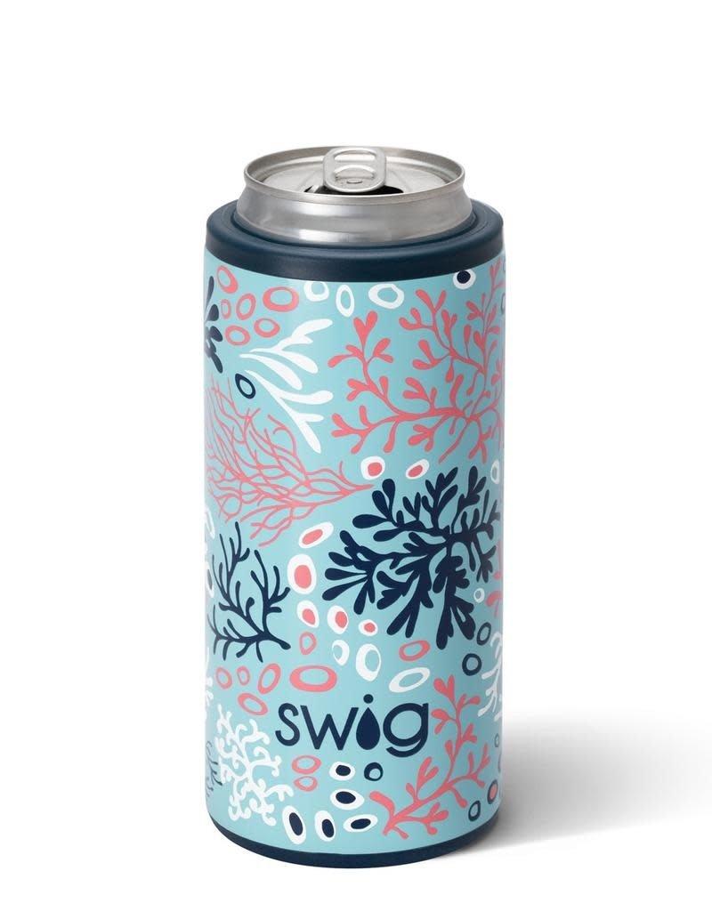 Swig Swig 12oz Skinny Can Cooler - Coral Me Crazy
