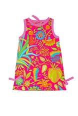Gretchen Scott Girls Cotton Dress - Hummingbird Heaven - Pinks - 8-10