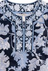 Gretchen Scott Split Neck Tunic - Glorious - Navy - X-Small