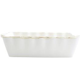 Vietri Italian Bakers White Small Rectangular Baker