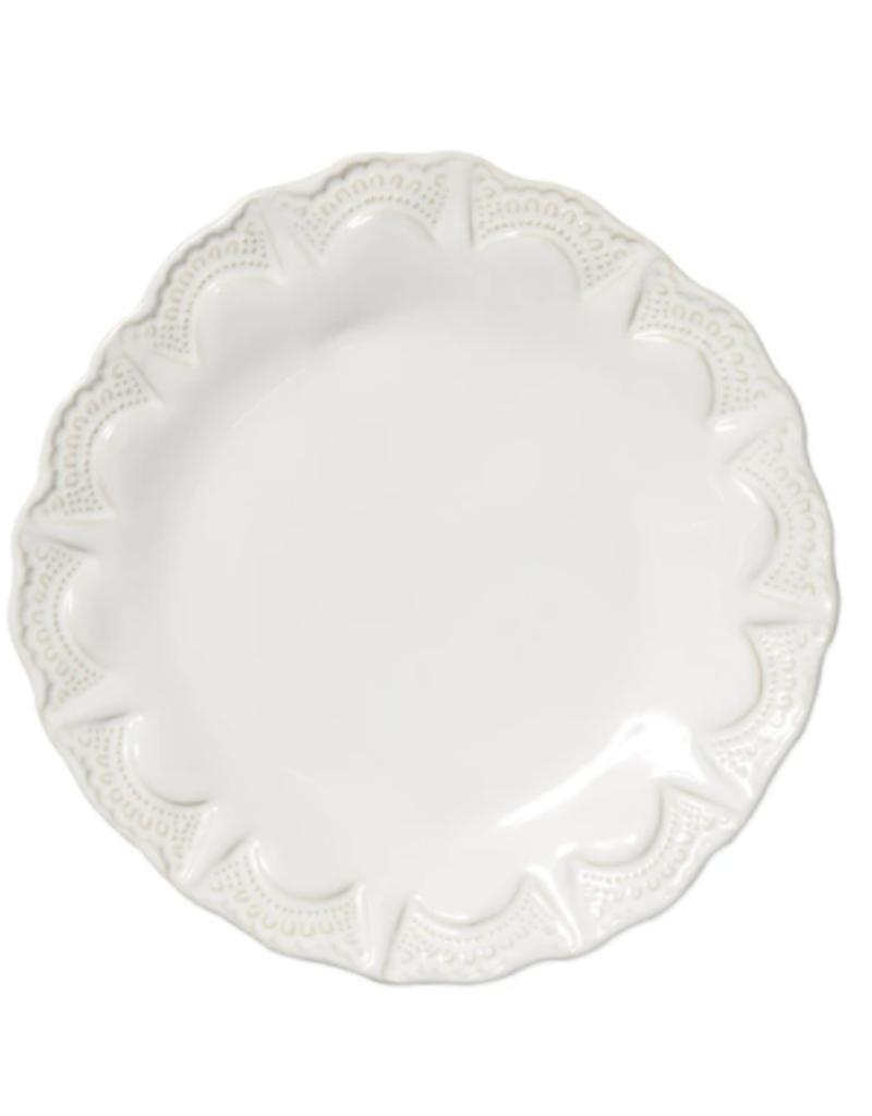 Vietri Incanto Stone White Lace Salad Plate