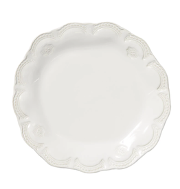 "Vietri Incanto Stone White Lace Dinner Plate - 11.25""D"