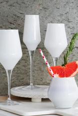Vietri Contessa White Champagne Glass