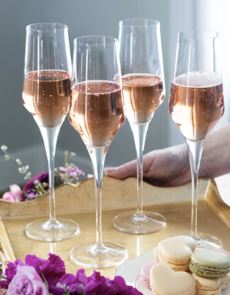 Vietri Contessa Clear Champagne Glass