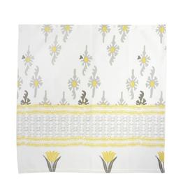 Vietri Bohemian Linens Gray/Yellow Napkins - Set of 4