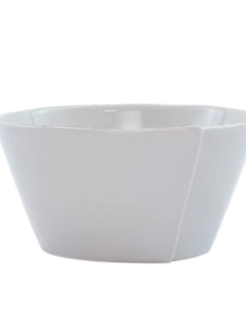 Vietri Lastra Stacking Cereal Bowl - Light Gray