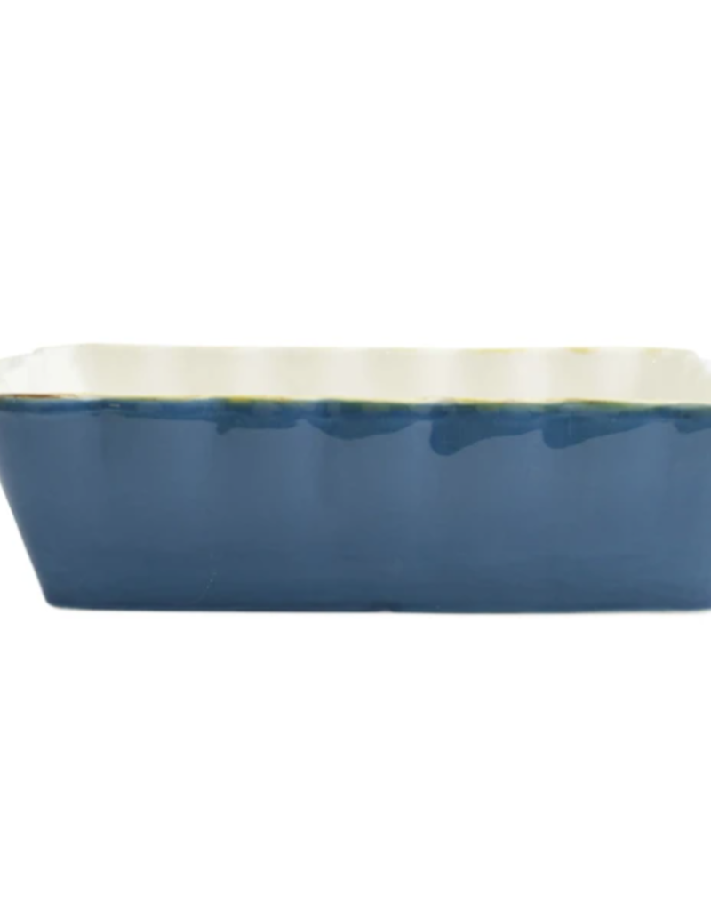 Vietri Italian Bakers Blue Medium Rectangular Baker