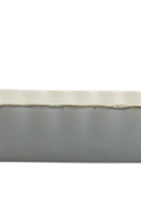 Vietri Italian Bakers Gray Medium Rectangular Baker