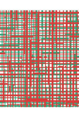 Vietri Papersoft Plaid Green & Red Dinner Napkins - 20 Pack