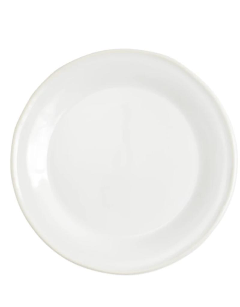 Vietri Chroma Salad Plate - White