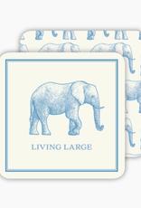 Large Blue Elephant Coaster Box
