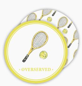 Gold Tennis Racquet Coaster
