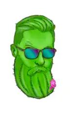 Cactus Beard Sticker