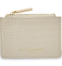Katie Loxton Celine Faux Croc Card Holder - Stone