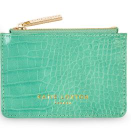 Katie Loxton Celine Faux Croc Card Holder - Mint Green