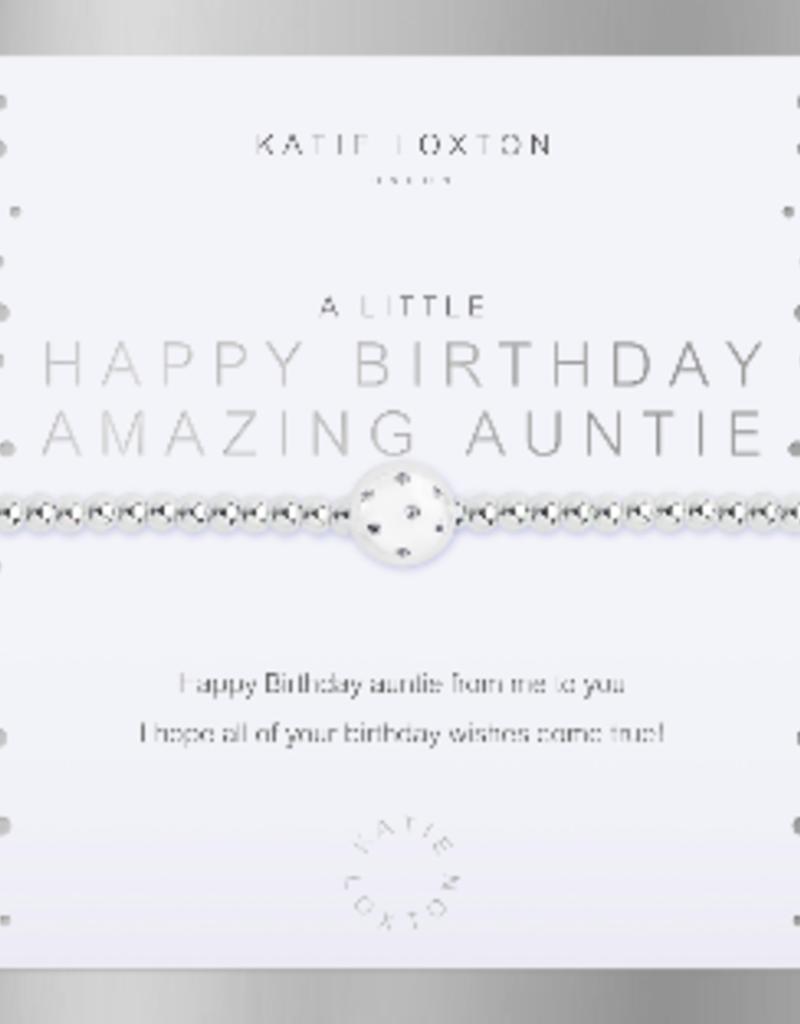 Katie Loxton a little Happy Birthday Amazing Auntie Bracelet