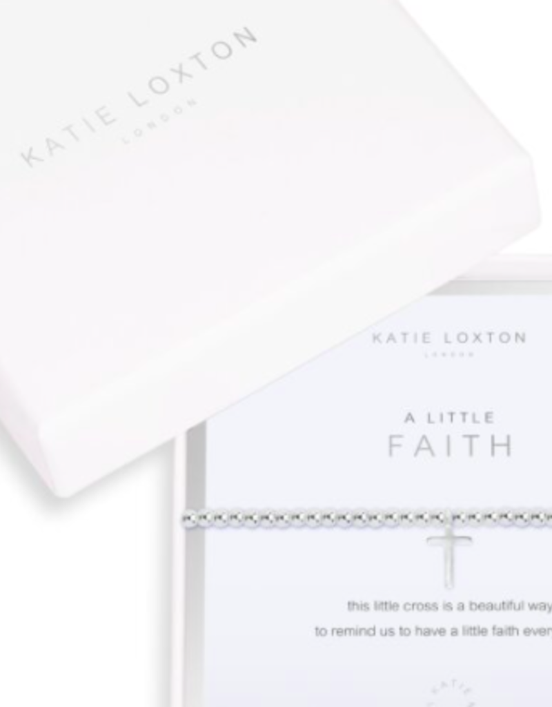 Katie Loxton Beautifully Boxed A Littles - Faith - Silver - Bracelet