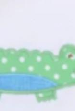 White & Blue Alligator Onesie