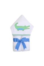 Blue Alligator Swaddle Blanket