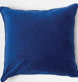 Bright Blue Velvet Pillow