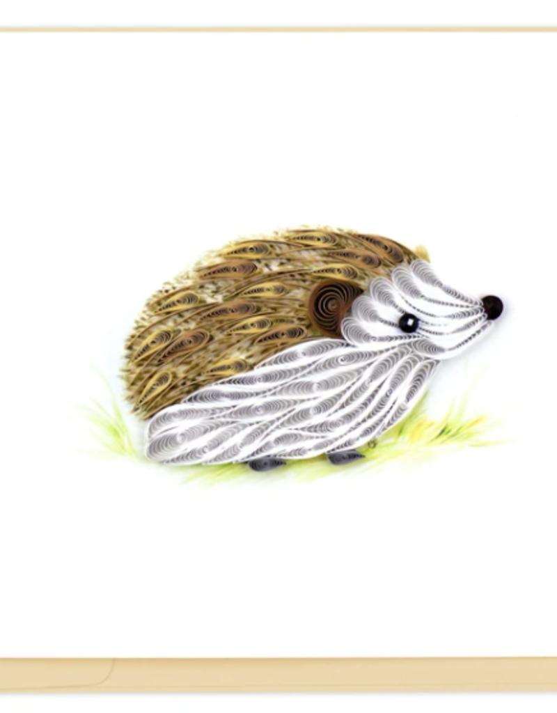 Hedgehog Quilling Card