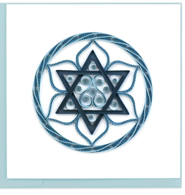 Star of David Quilling Card