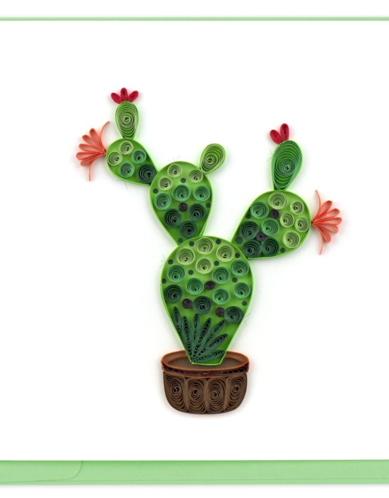 Prickly Pear Cactus Quilling Card