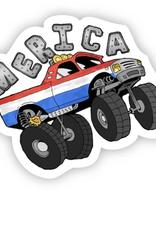 Monster Truck Merica Sticker
