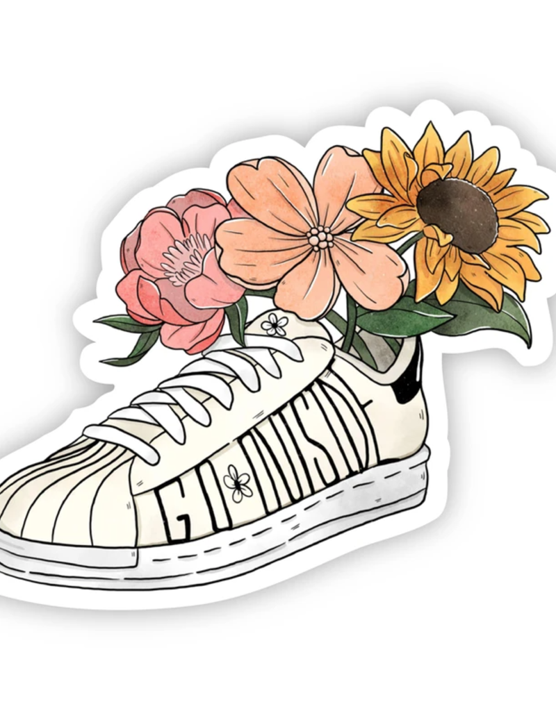 Go Outside Floral Shoe Sticker