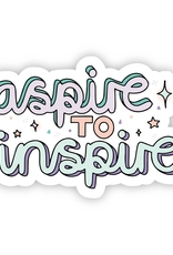 Aspire To Inspire Stars and Glitter Sticker