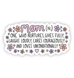 Mom Definition Floral Sticker