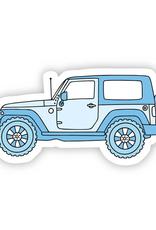 Blue Side Jeep Aesthetic Sticker