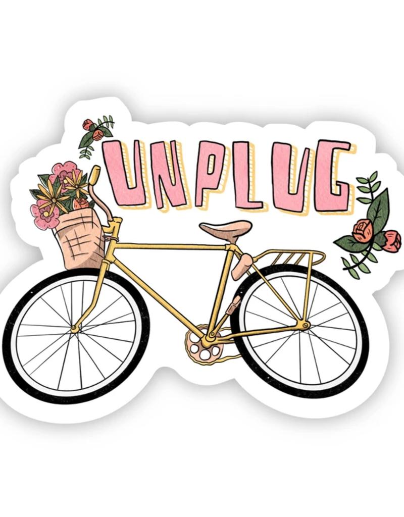 Unplug Bike Sticker