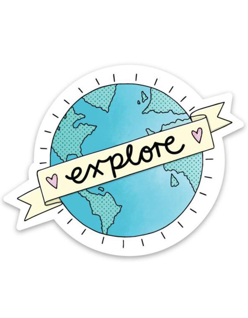 Explore World Sticker