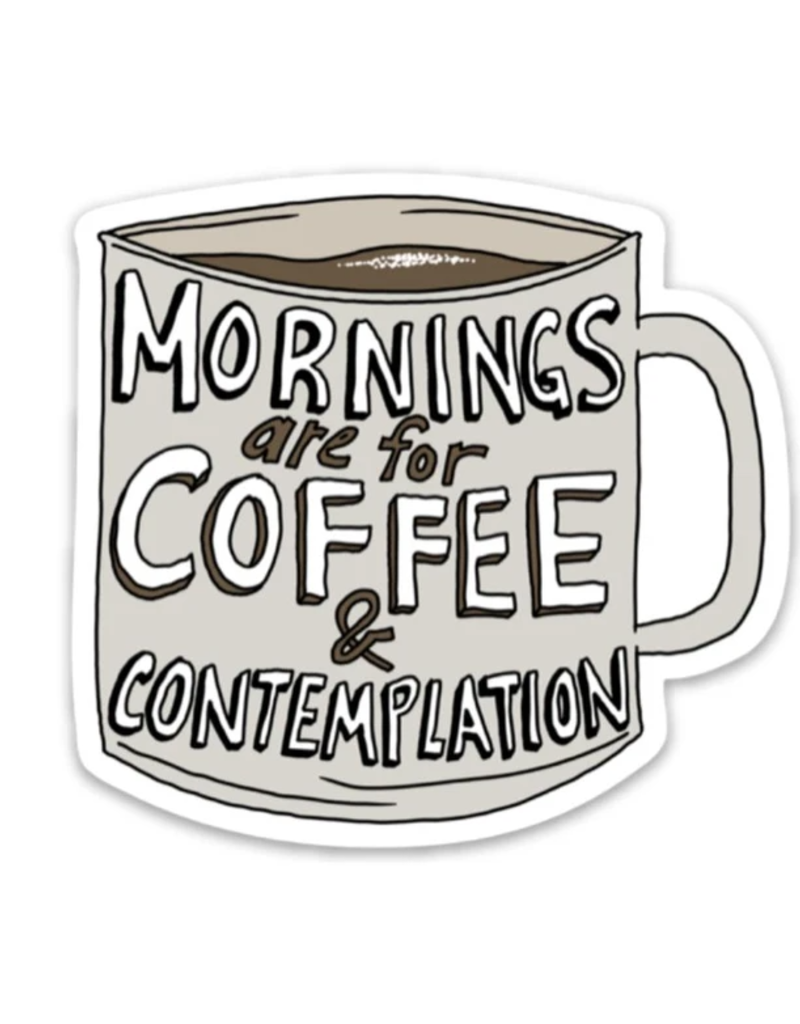 Coffee And Contemplation Sticker - Stranger Things Edition