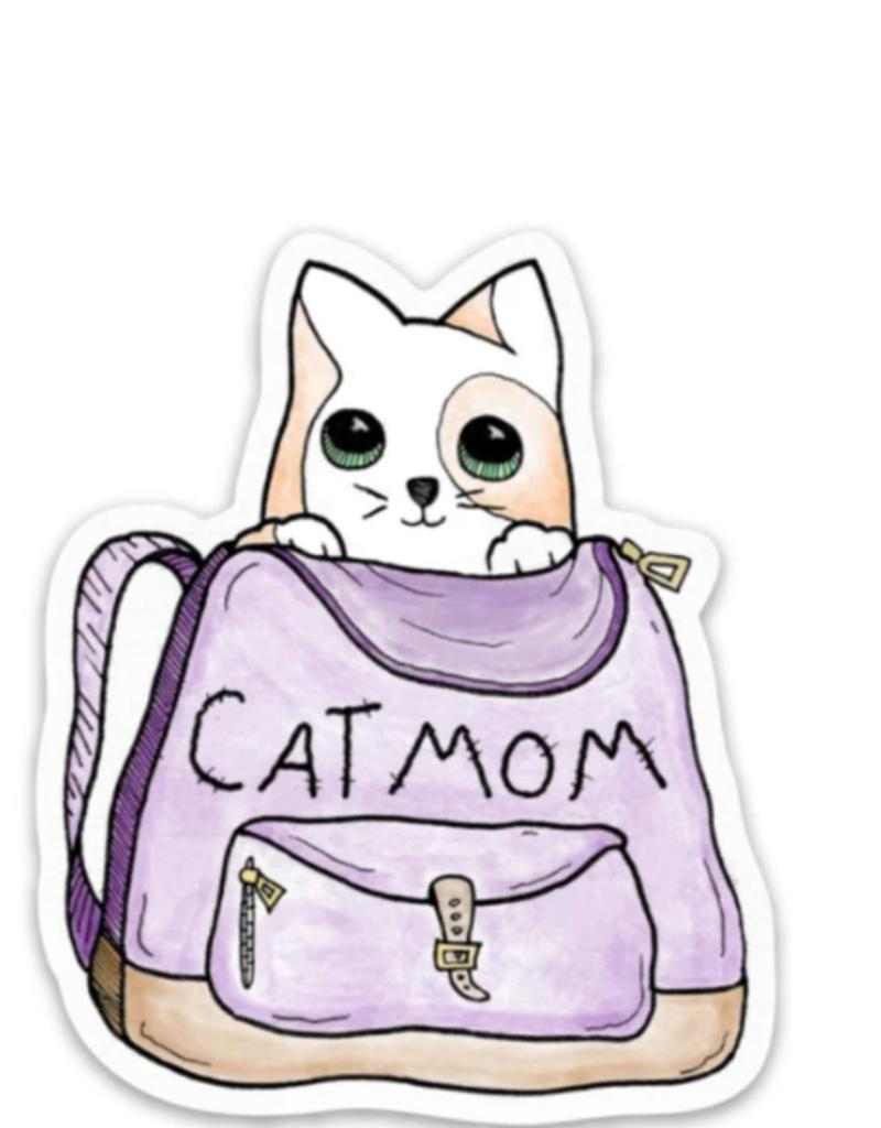 Cat mom - Animal Stickers
