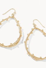 Spartina 449 Spritz Teardrop Earrings Gold