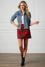 Margie Plaid Skirt Red