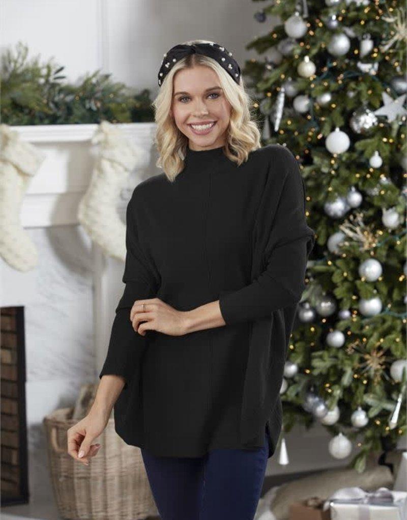 Ellis Mock Neck Sweater Black