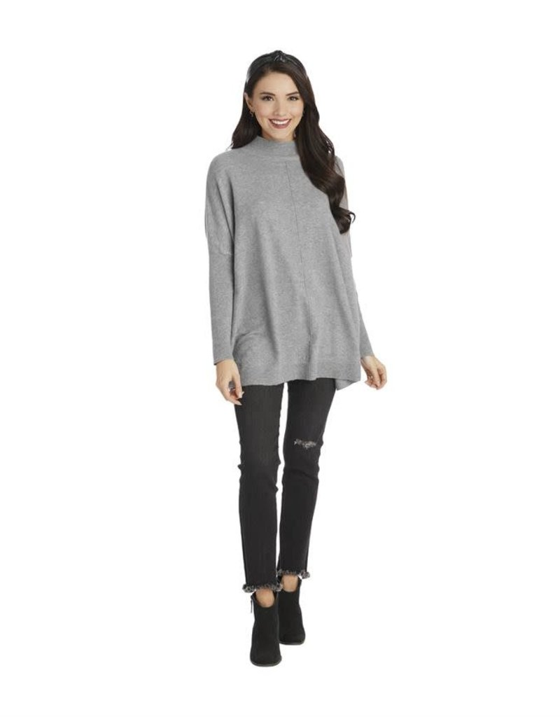 Ellis Mock Neck Sweater Gray