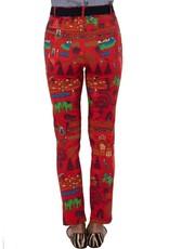 Gretchen Scott GripeLess Cotton Spandex Jeans Jodhpur Journal - Red
