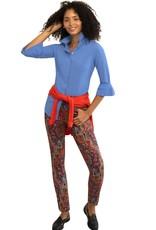 Gretchen Scott Priss Chiffon Blouse French Blue