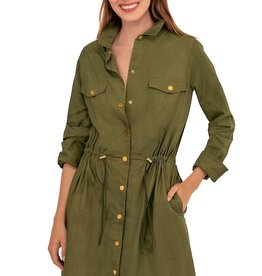 Gretchen Scott The Snappy Classic Bungee Dress Olive