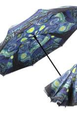 "Reverse Open Umbrella - Van Gogh ""Starry Night"""