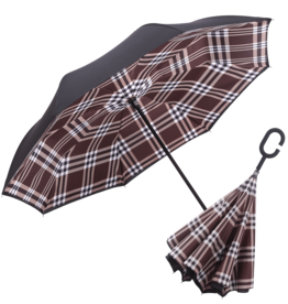 Reverse Open Umbrella - Coco Plaid