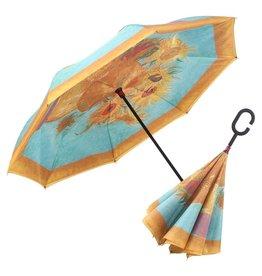 "Reverse Open Umbrella - Van Gogh ""Sunflowers"""