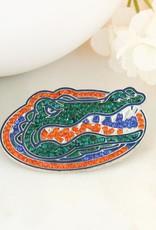 Florida Gator Head Crystal Pin